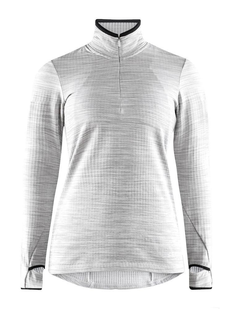 1aa06899 Bilde: Craft Grid Halfzip treningsgenser dame - Grey Melange 1906644-950000  ...