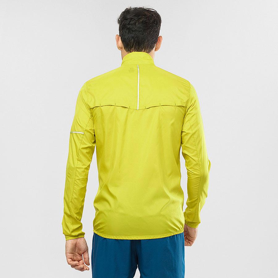 Salomon Agile Wind Jacket, vindjakke herre yellow