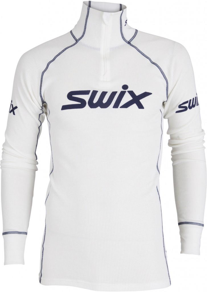 Swix RaceX Warm bodyw halfzip herre Bright white XL 2018
