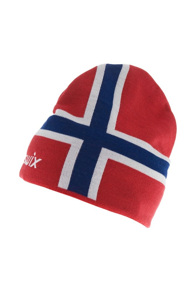 Swix Norway Beanie, lue Red 46661-90000 M/L 2020
