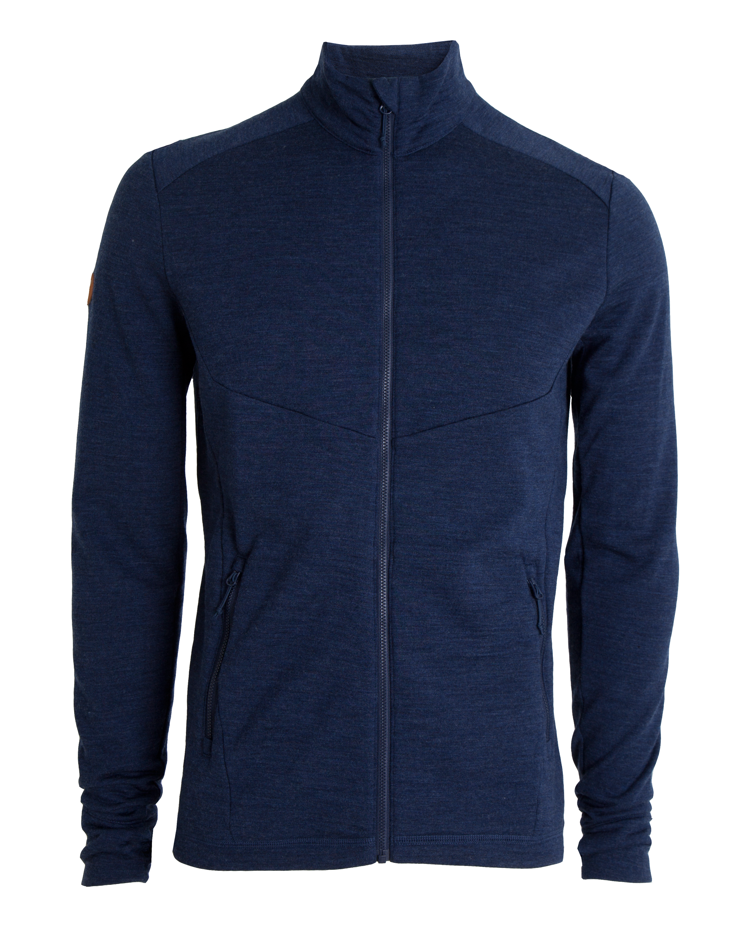 AW18 Tufte Wool Fleece Jacket Men Dress Blues Melange Front.png